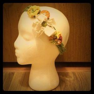 Handmade Boho Flower Headband Hippie Gypsy knit